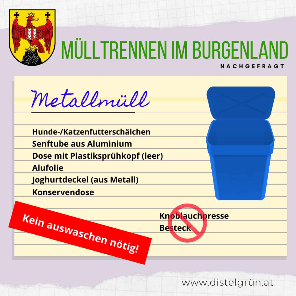 Mülltrennung Burgenland: Metallmüll