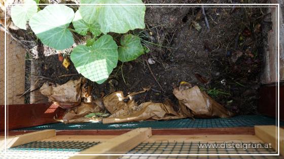Bioabfall-System Papiersackerl in Komposter