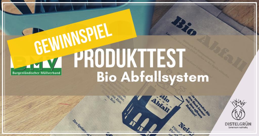 Titel Produkttest Bio Abfallsystem Gewinnspiel