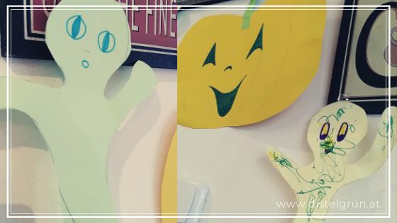 Gebastelte Halloween-Deko